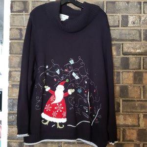 Plus size 2x Christmas Santa Sweater CJ Banks